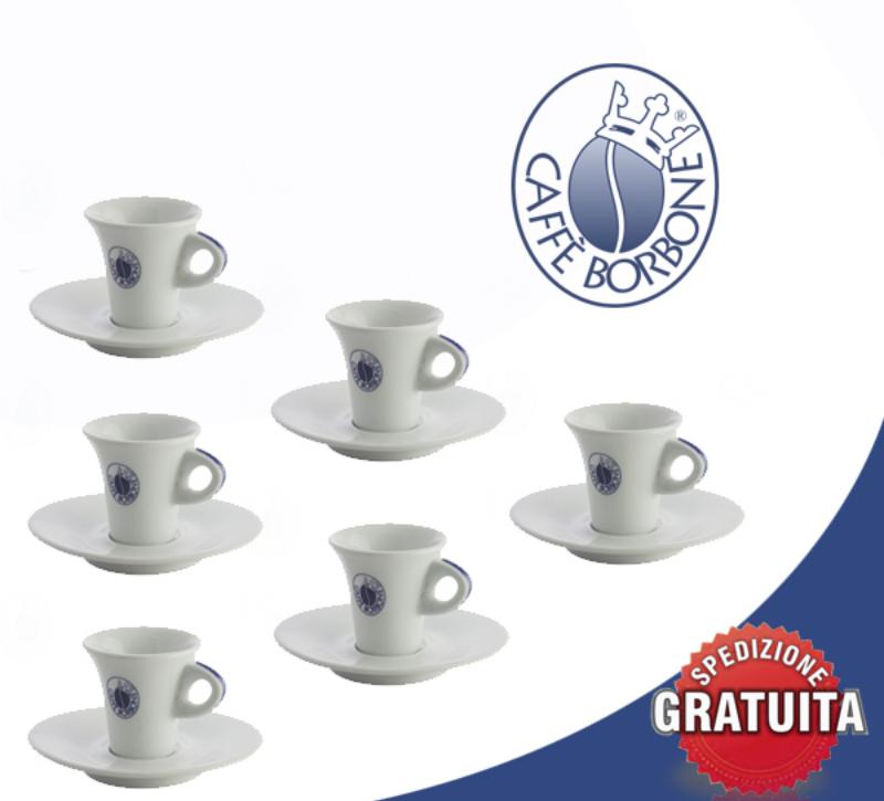 6-Coffee-Cups-+-Saucer-In-Porcelain-Bourbon